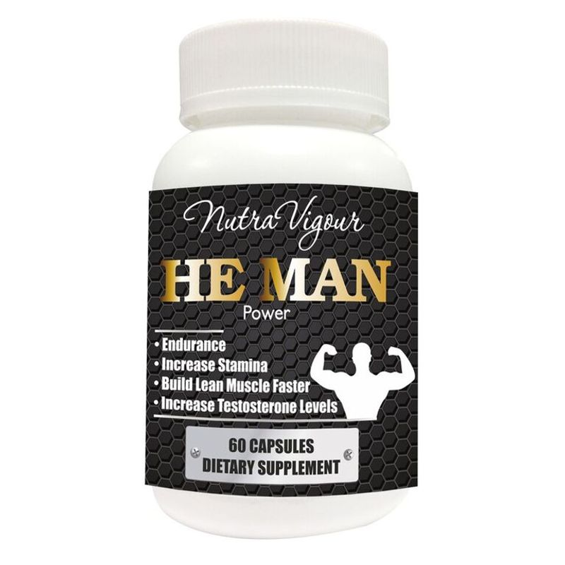 Nutravigour He Man Power Testosterone Booster And Bodybuilding Supplement - 60 Veg Capsules