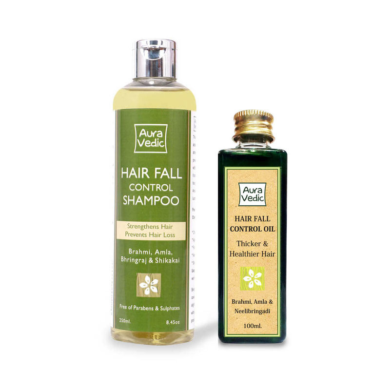 Auravedic Hair Fall Control Oil + Shampoo