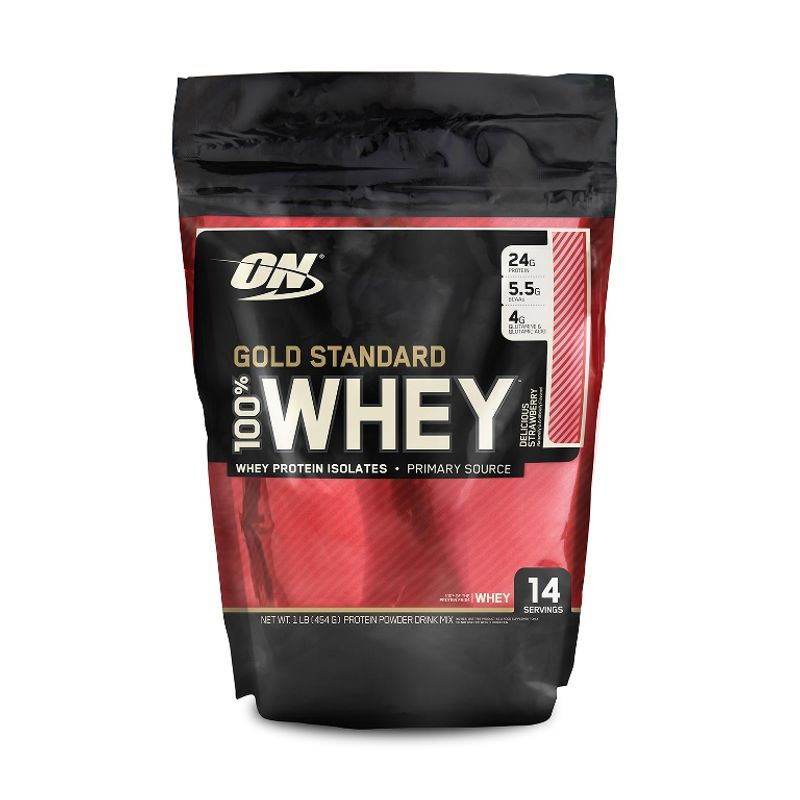 Optimum Nutrition (ON) 100% Whey Gold Standard Protein Powder (Delicious Strawberry)