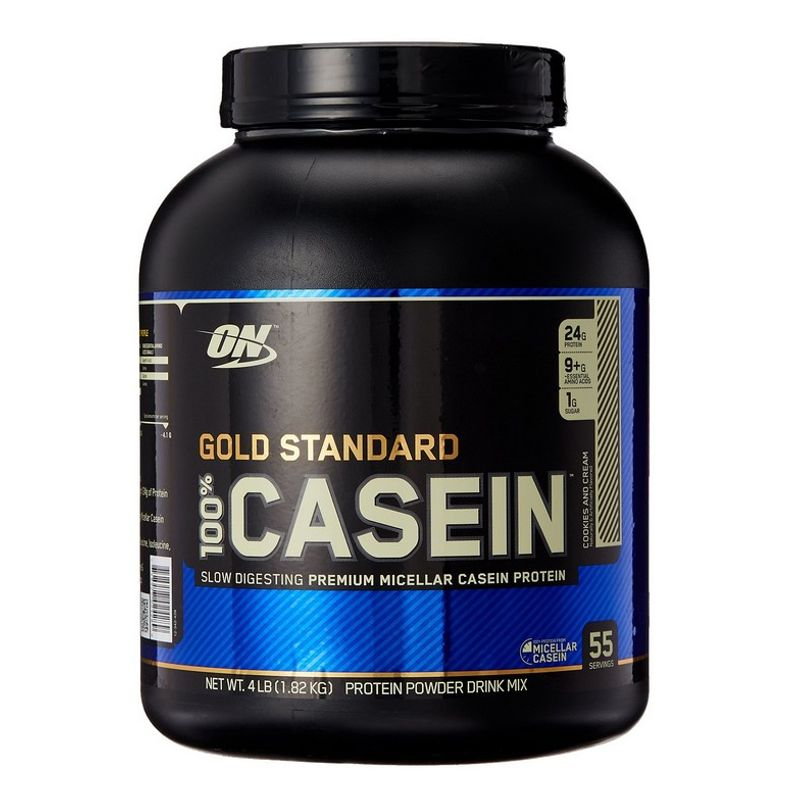 Optimum Nutrition 100% Gold Standard Casein Cookies And Cream (4lbs)