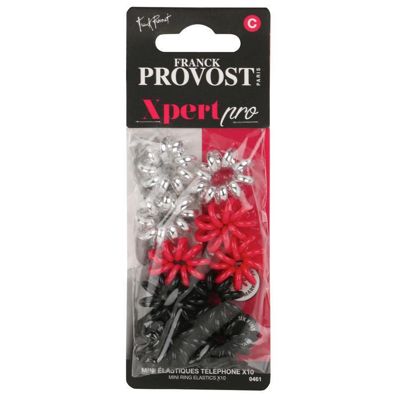 Franck Provost Xpert Pro Mini Hair Ring Elastics - Multicolour (10 Pcs)