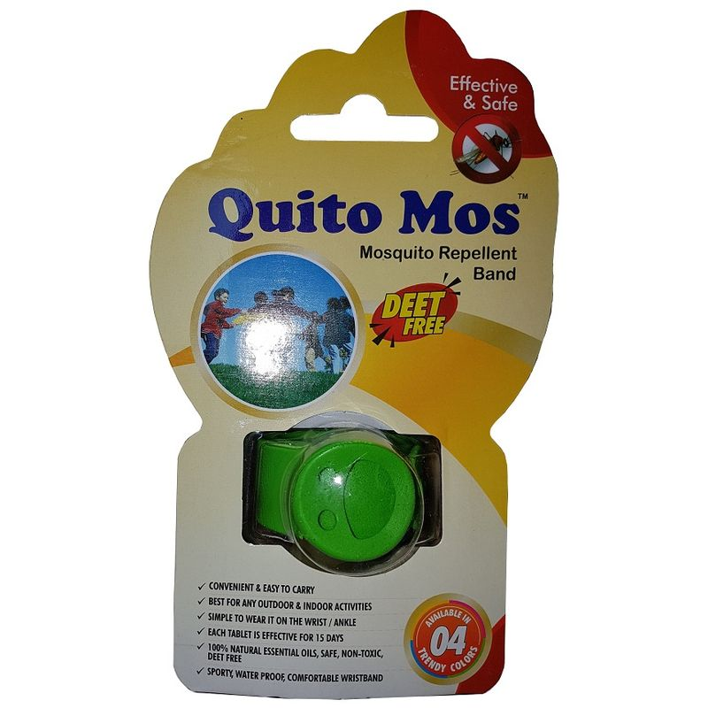 Quito Mos Mosquito Repellent Band - Green