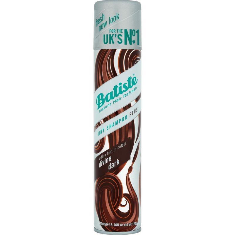 Batiste Dry Shampoo Plus Instant Hair Refresh Divine Dark For Deep Dark Brown Hair
