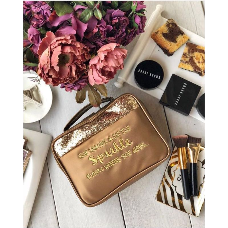 Organice Bronze Glitter She Leaves A Little Cosmetic Organizer