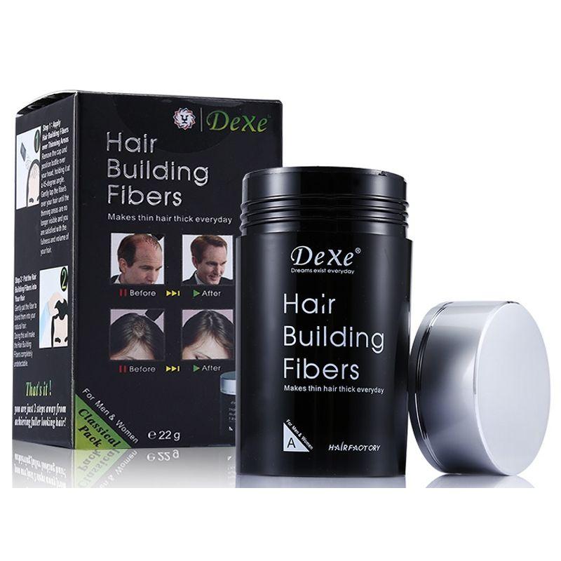 Dexe Hair Building Fibers - Dark Brown
