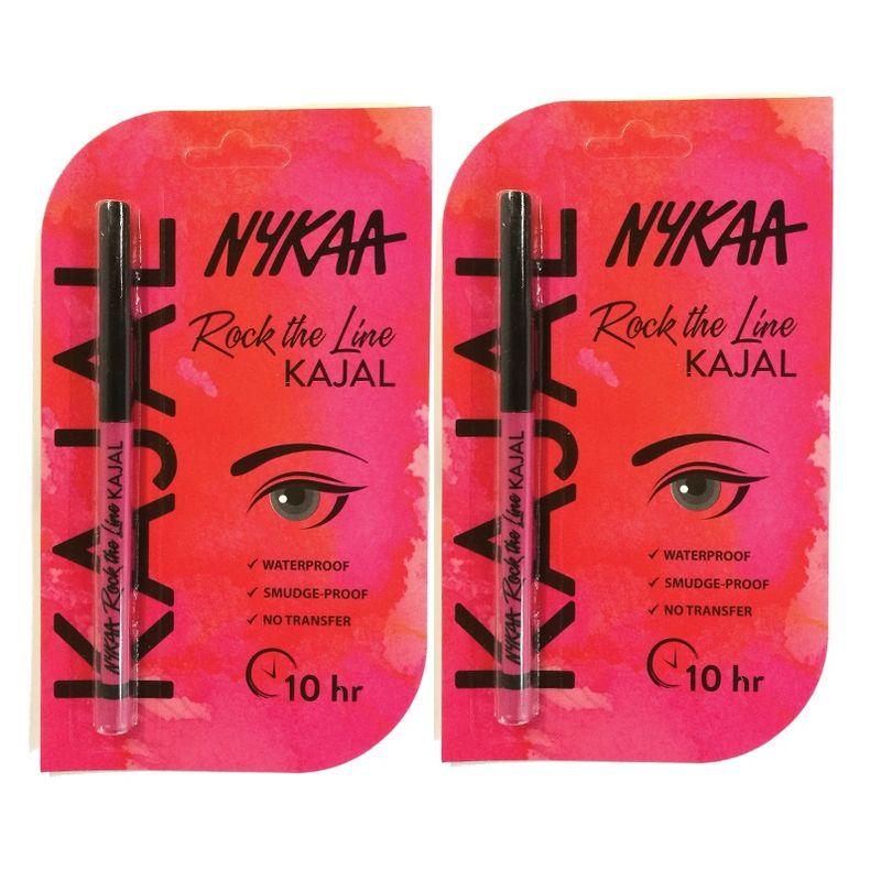 Nykaa Rock The Line Kajal Eyeliner Pack Of 2