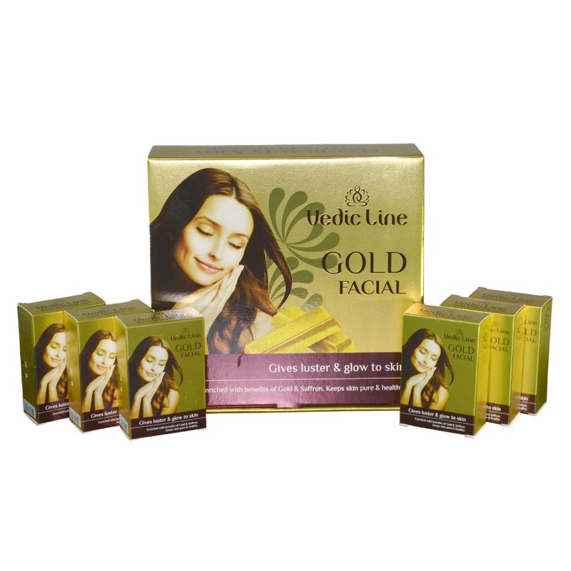 Vedic Line Gold Ojas Facial Gives Luster   Glow To Skin + Free Green Apple  Toner 200ml Worth Rs.225  at Nykaa.com e638bc15ce1f8