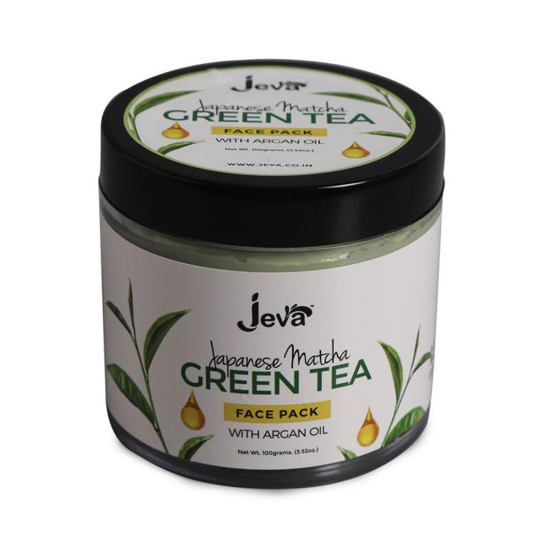 Jeva Japanese Matcha Green Tea Face Pack With Argan Oil