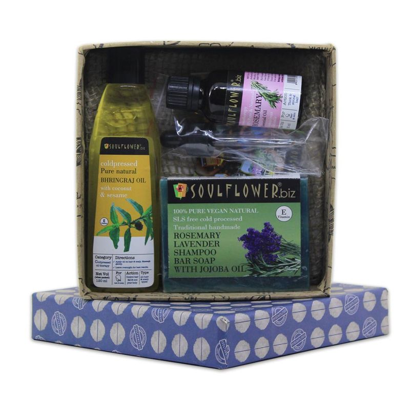 Soulflower Hair Growth & Hair Fall Control Gift Set