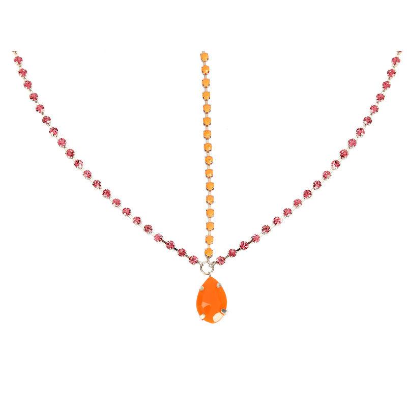 Hair Drama Company Princess Head Chain - Orange & Purple