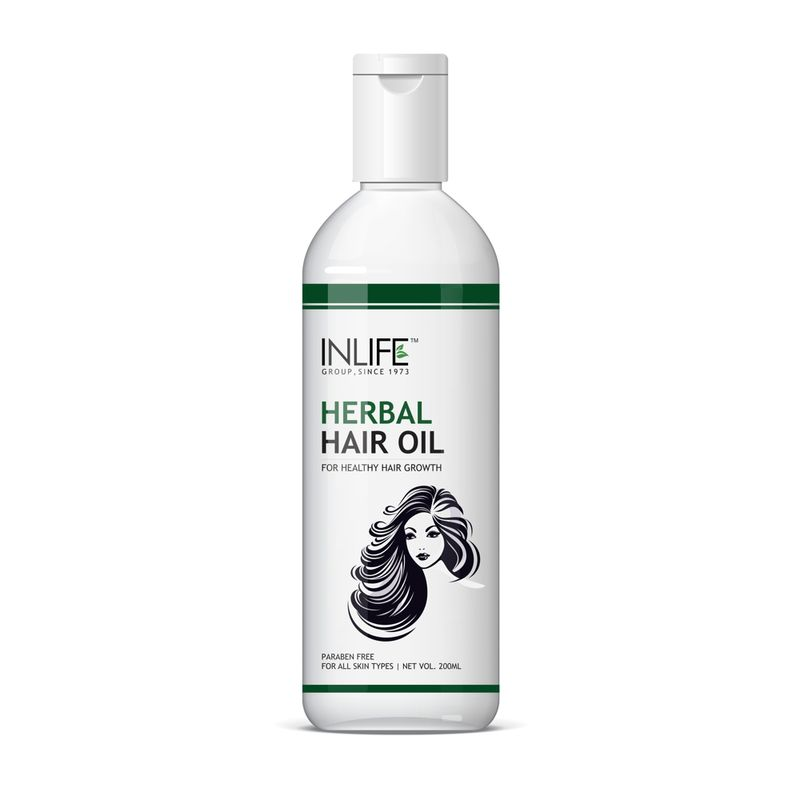 INLIFE Herbal Hair Oil For Deep Nourishment Of Hair Roots Paraben Free