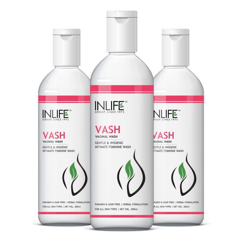 INLIFE Vash Vaginal Wash For Female Intimate Hygiene Pack Of 3