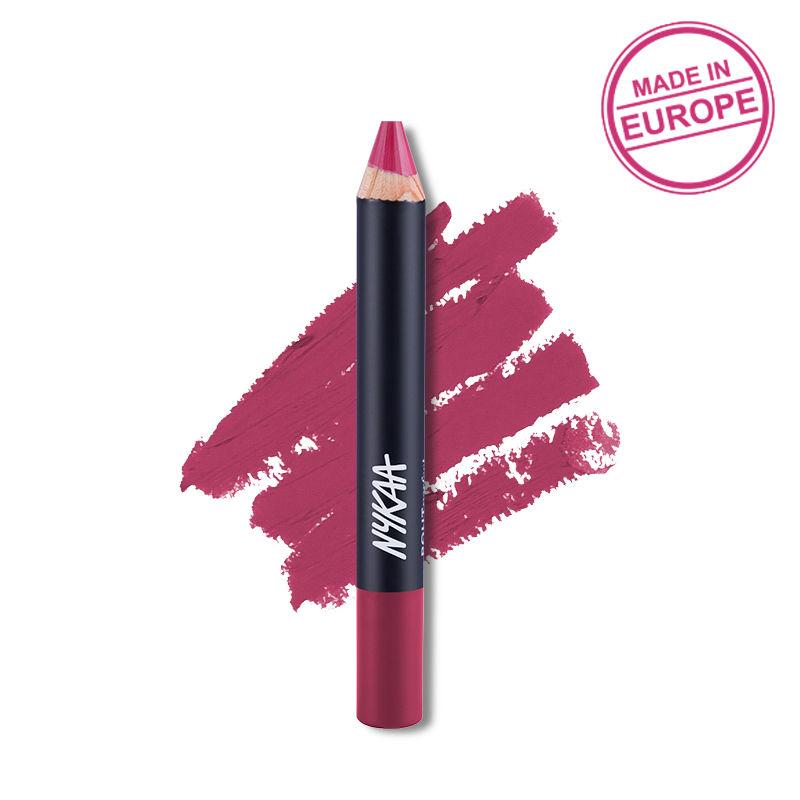 Nykaa Pout Perfect Lip & Cheek Velvet Matte Crayon Lipstick - Like To Mauve It! 14