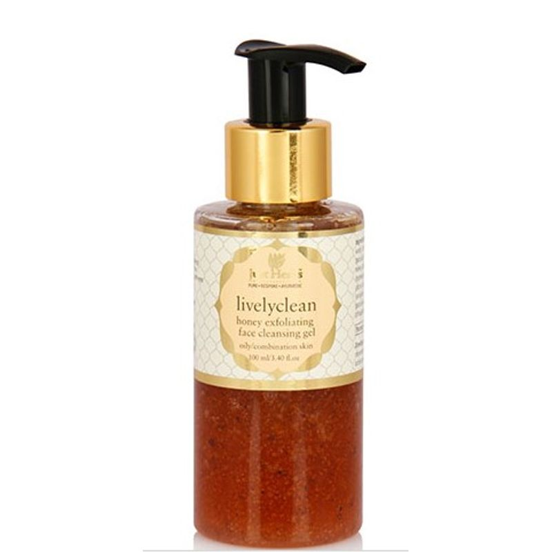 Just Herbs Lively Clean Honey Exfoliating Face Cleansing Gel