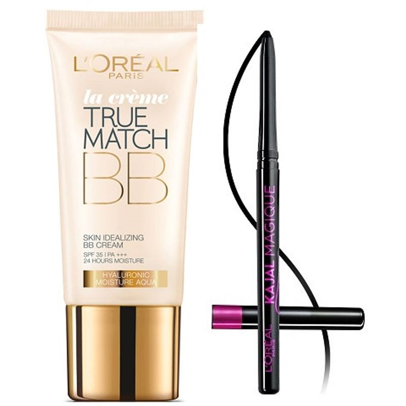L'Oreal Paris True Match BB Cream - Honey + Free Kajal Magique
