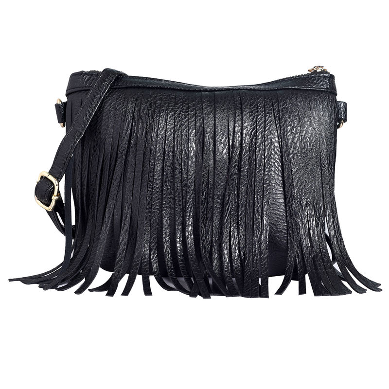 Lino Perros Black Leatherette Sling Bag at Nykaa.com c093bd090dbe4