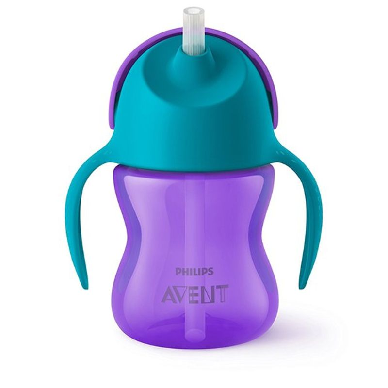 Philips Avent Straw Cup - Blue & Purple