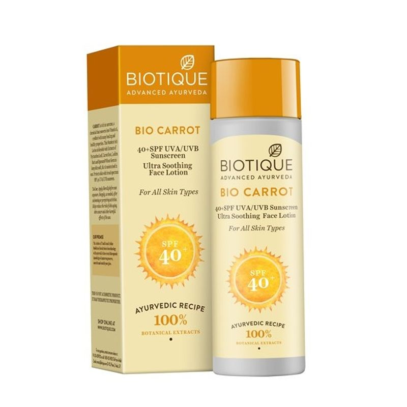 Biotique Bio Carrot Ultra Soothing Face Lotion 40+ SPF UVA/UVB Sunscreen