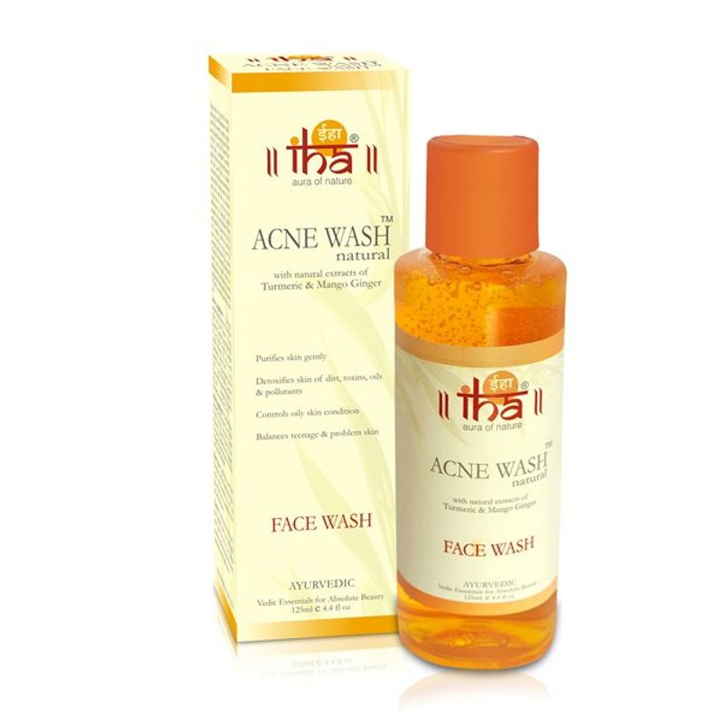 IHA Acne Wash - Natural Face Wash With Mango Ginger, For Acne & Oil Control