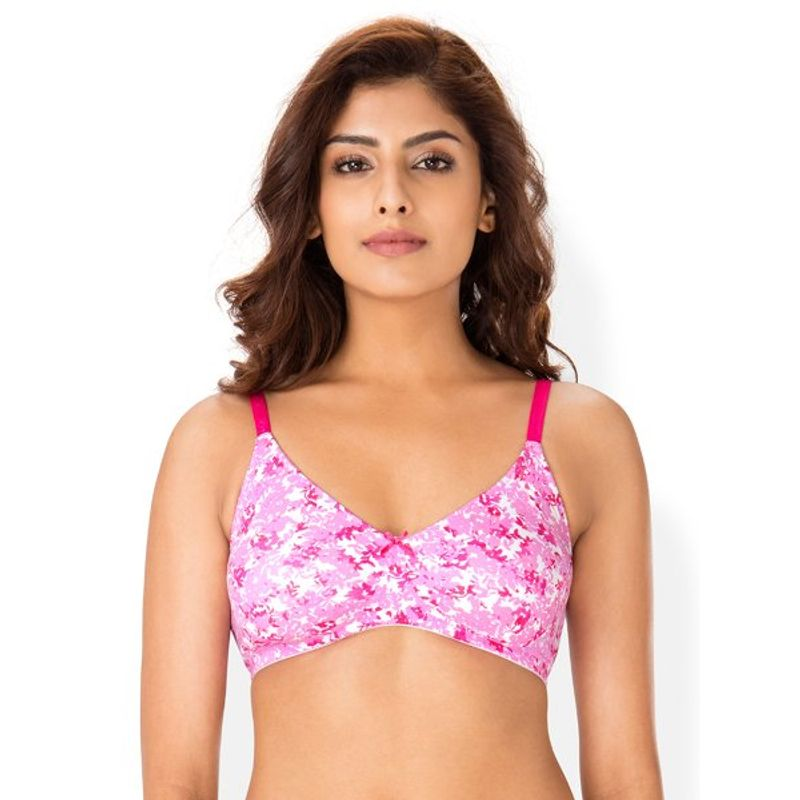 8a05823ee3 PrettySecrets Cherry Floral Cotton Full Cover Wireless Bra (36D) at ...