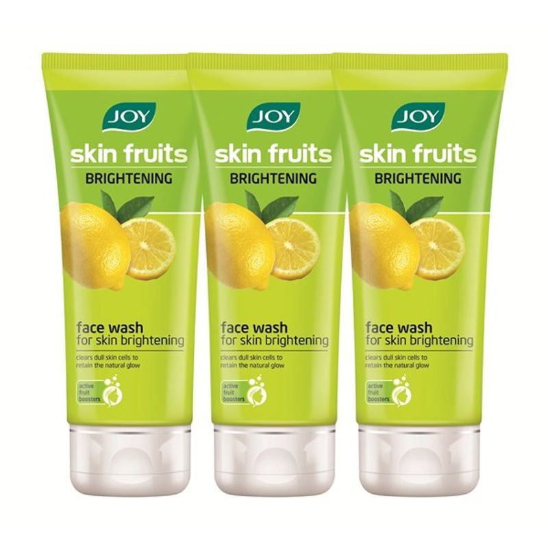 Joy Skin Fruits Fairness Lemon Face Wash (Pack Of 3)
