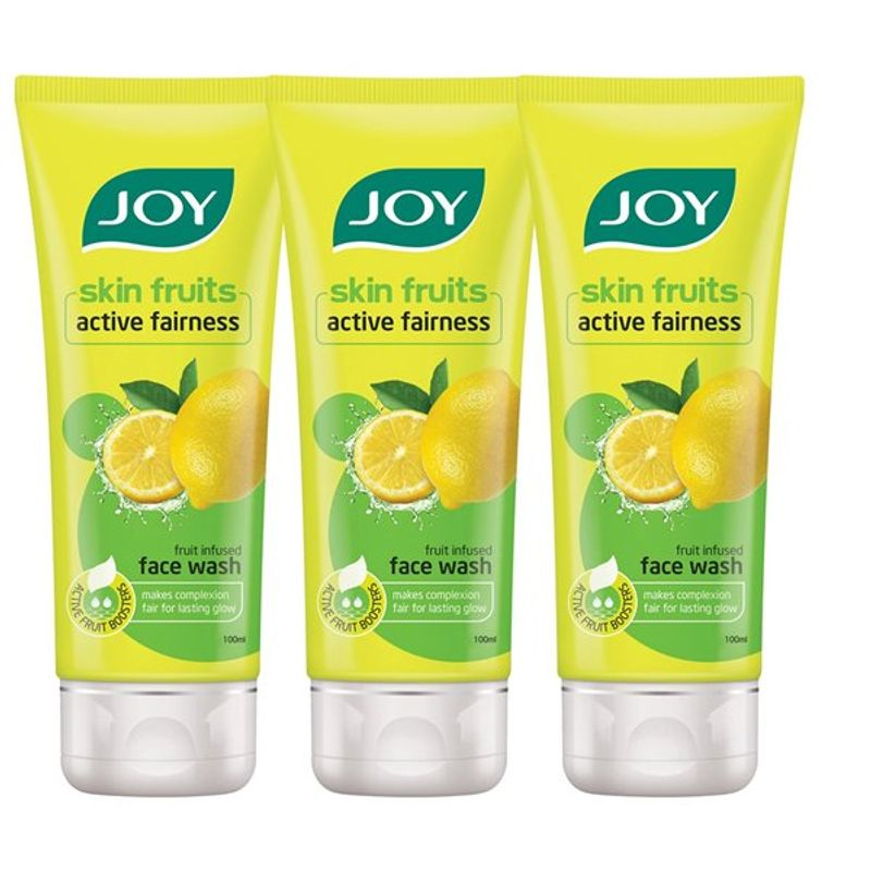 Joy Skin Fruits Active Fairness Lemon Face Wash (Pack Of 3)