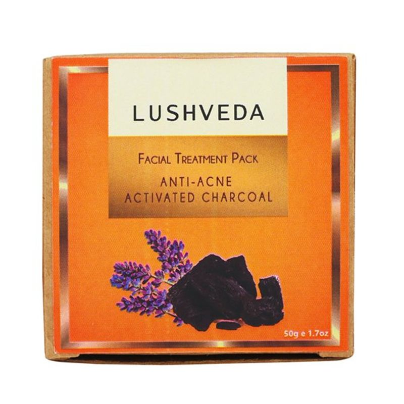 Lushveda Facial Treatment Pack - Anti Acne Activated Charcoal