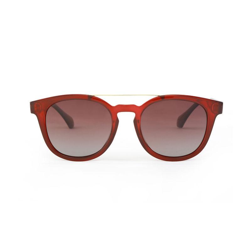 5916113c13890 Marie Claire MC001 C2 Retro Square Polarized Sunglasses - Burgundy at  Nykaa.com