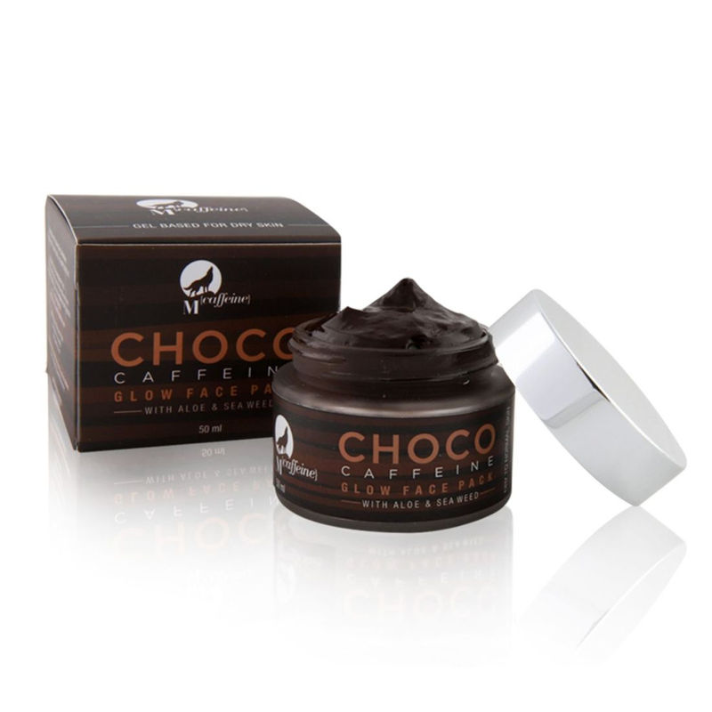 MCaffeine Choco Caffeine Glow Face Mask For Dry Skin With Aloe And Sea Weed - Gel Based