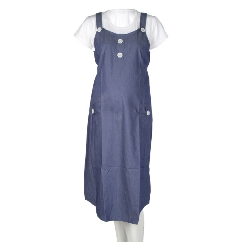 Mee Mee Maternity Dress With Feeding Zipper - Blue