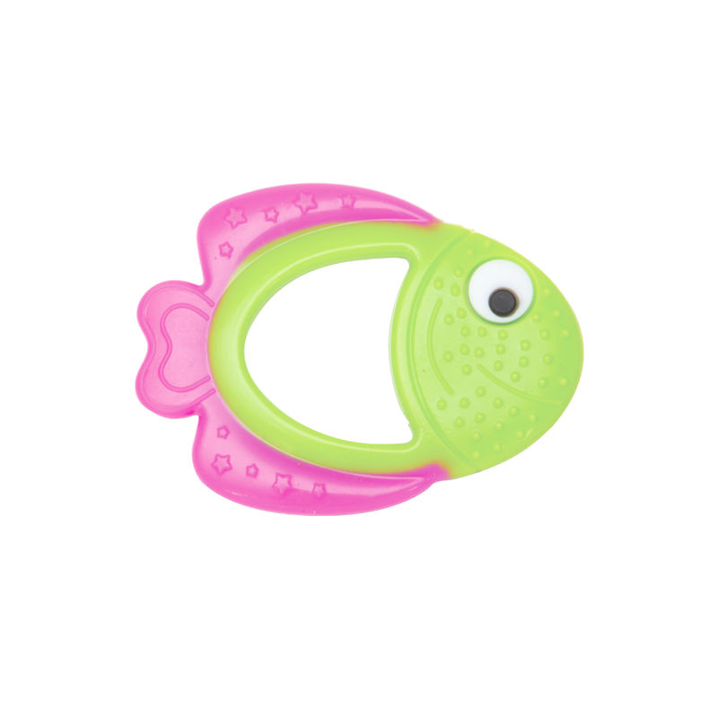 Mee Mee'S Baby Multi-Textured Silicone Teether - Pink, Green