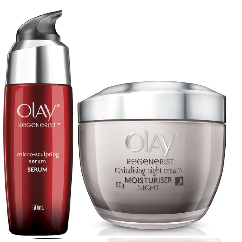 Olay Regenerist Revitalizing Night Cream Micro-Sculpting Serum Regime