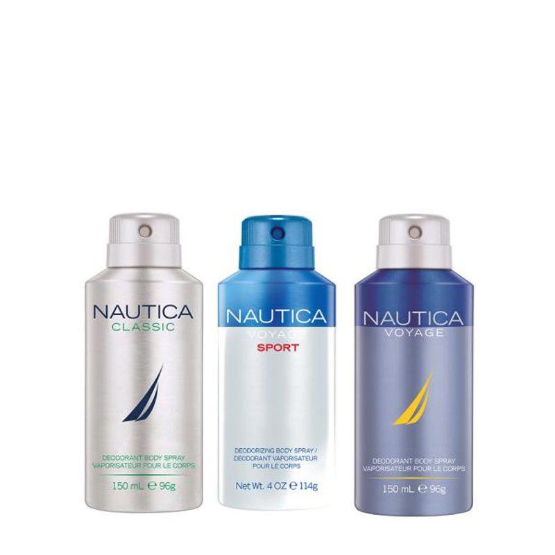 Nautica Voyage Sports, Blue & Classic Deodorant Pack Of 3