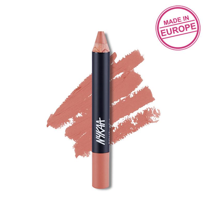 Nykaa Pout Perfect Lip & Cheek Velvet Matte Crayon Lipstick - Nude Me Not 05