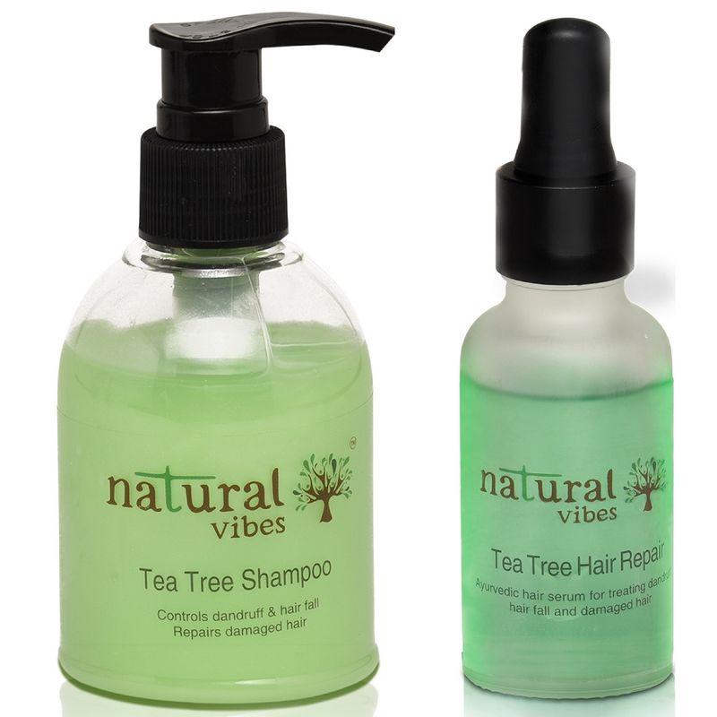 Natural Vibes Ayurvedic Anti Dandruff And Hair Fall Treatment Combo