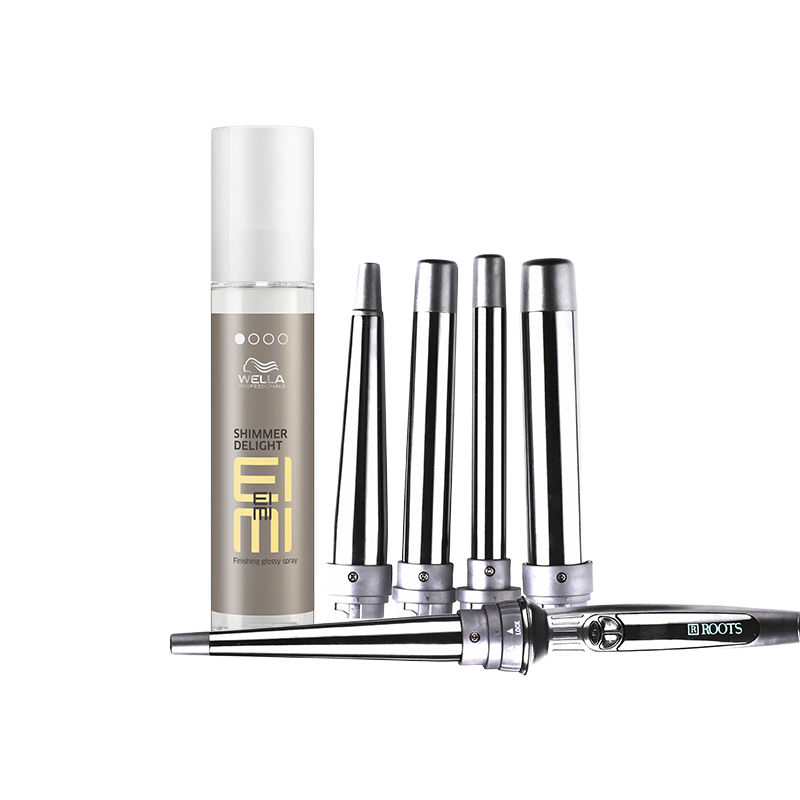 Wella Professionals Eimi Finishing Glossy Spray + Roots Curl Pro 501 – Multi Tong Curler