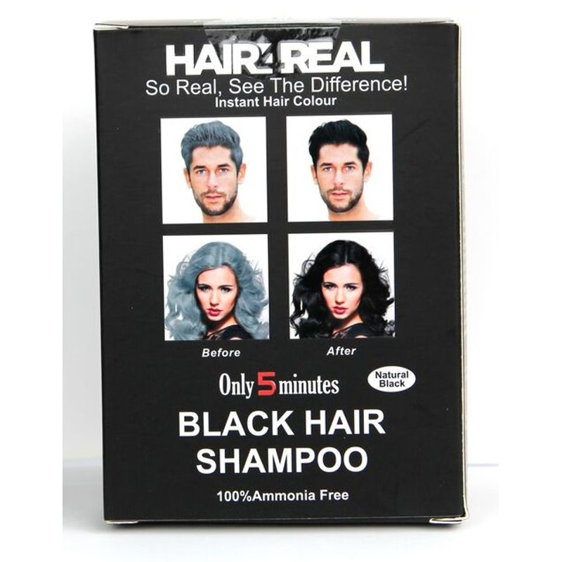 Hair4Real Natural Black Hair Shampoo(Pack Of 6 Sachet)