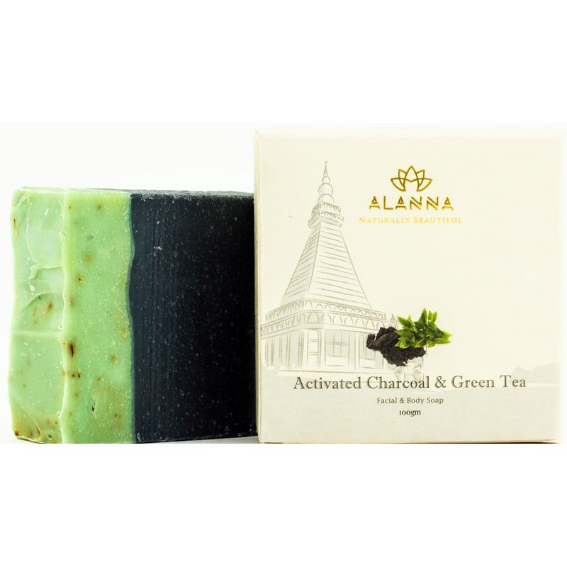 Alanna Activated Charcoal & Green Tea Facial & Body Soap