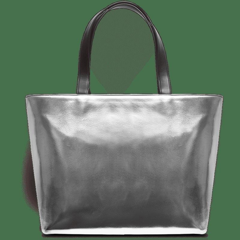 Dailyobjects Silver Metallic Fatty Tote Bag