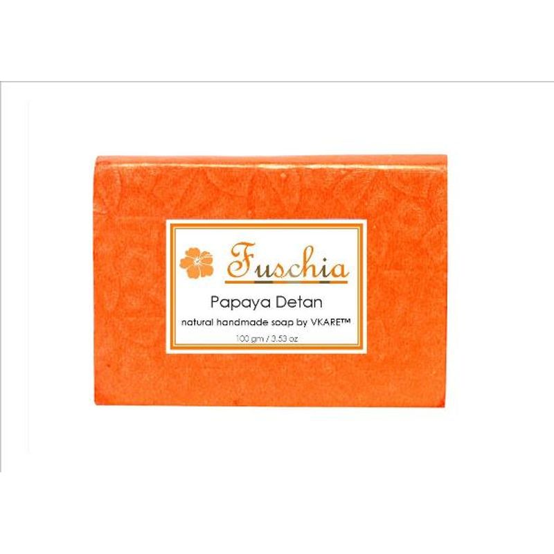 Fuschia Papaya Detan Natural Handmade Herbal Soap