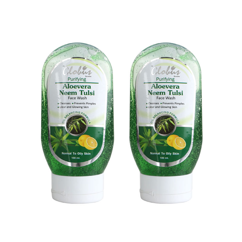 Globus Remedies Aloe Vera Neem Tulsi Face Wash (Pack Of 2)