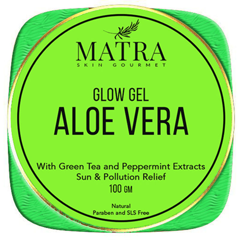 Matra Aloe Vera Glow Gel Sun & Pollution Relief With Green Tea And Peppermint Extracts