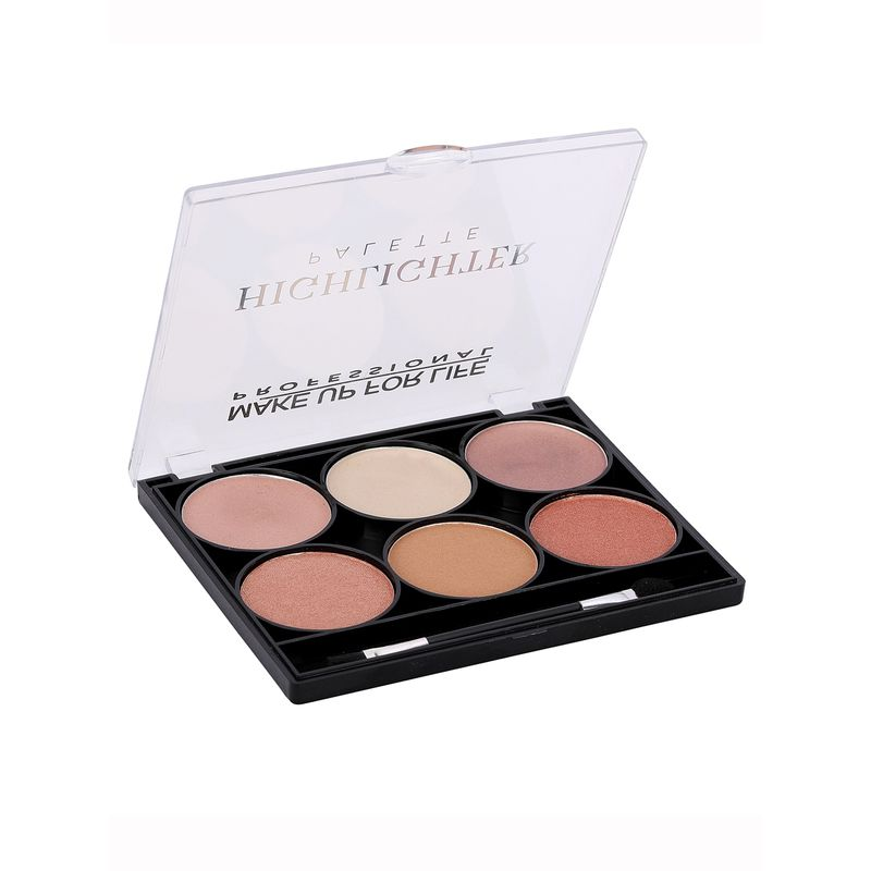 Make Up For Life 6 Color Highlighter Palette No - 02