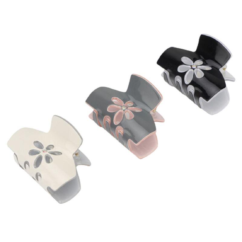 Missy Versatile Flower Jaw Hair Clips Pack Of 3