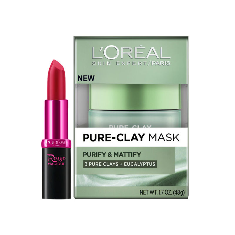 Buy L'Oreal Paris Pure Clay Mask Purify & Mattify & Get Free Magique Lipstick Free