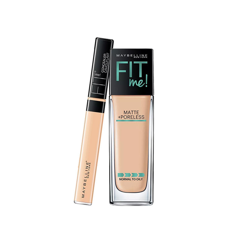 Maybelline New York Fit Me Matte + Poreless Foundation - 128 Warm Nude + Concealer - 20 Sand