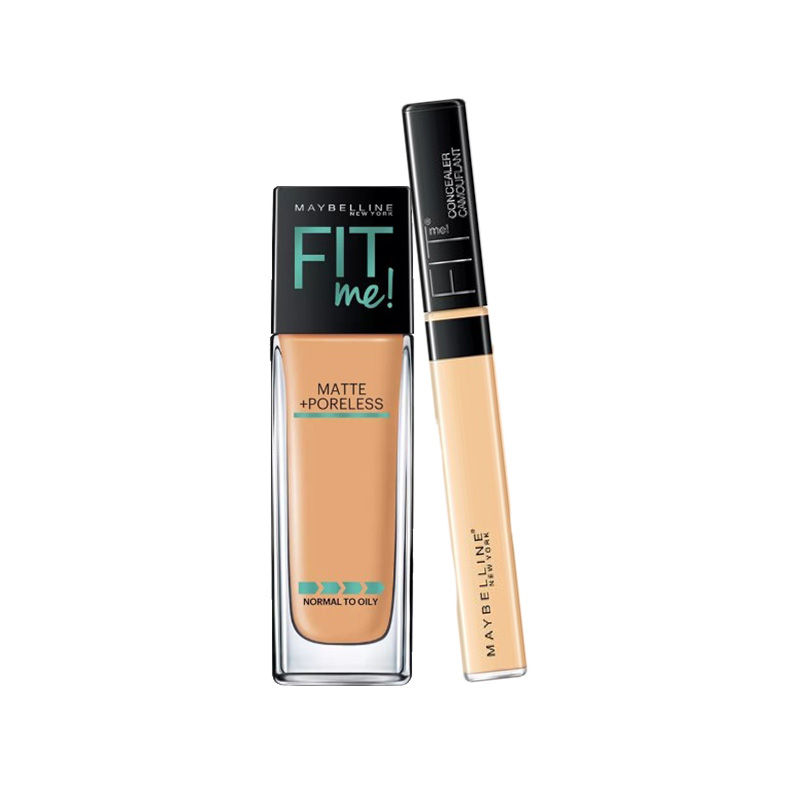 Maybelline New York Fit Me Matte + Poreless Foundation - 310 Sun Beige + Fit Me Concealer - 25 Medium at Nykaa.com