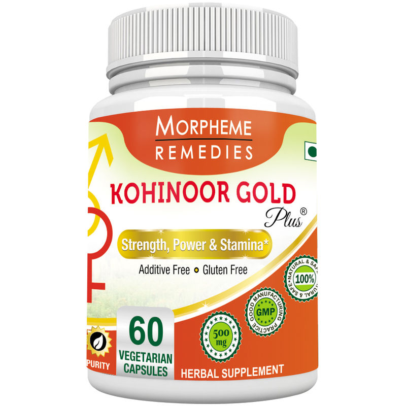 Morpheme Remediess Kohinoor Gold Plus For Male Libido - 500mg Extract