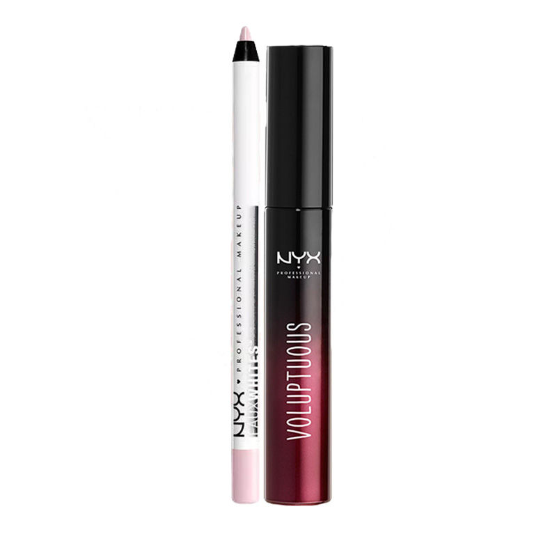 NYX Professional Makeup Faux Whites Eye Brightener - Seashell + Makeup Lush Lashes Mascara - Voluptuous