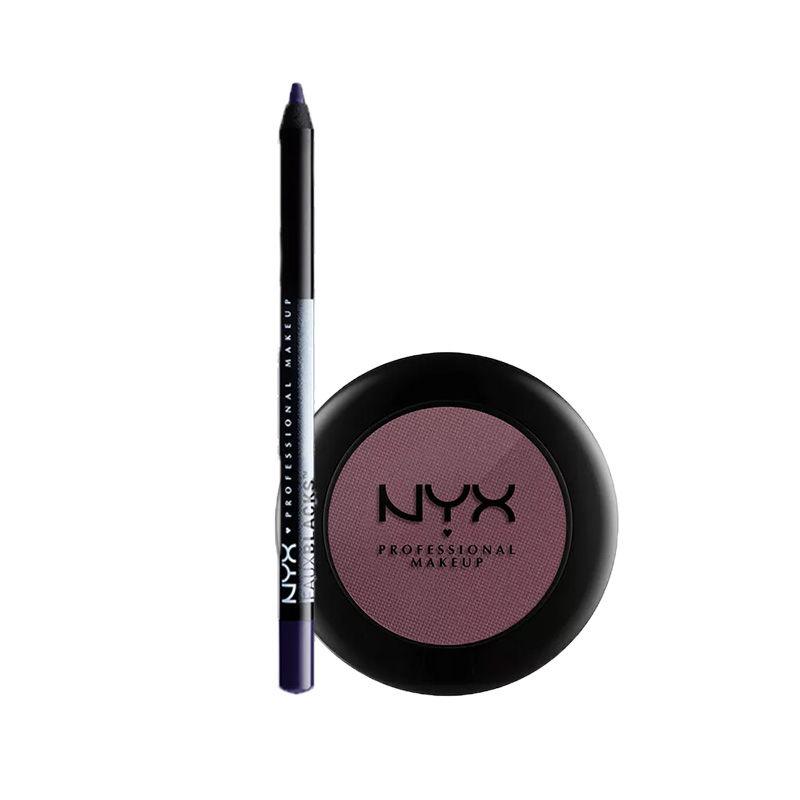 NYX Professional Makeup Faux Blacks Eyeliner - BlackHole + Makeup Nude Matte Eyeshadow - Skinny Dip